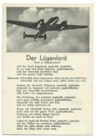 """Liedkarte """"Der Lügenlord"""" Mit Flugzeug Um 1940 - Guerra 1939-45"""