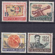Yugoslavia Republic 1954 Mi#751-754 Used - 1945-1992 Repubblica Socialista Federale Di Jugoslavia