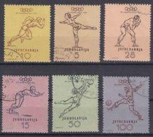 Yugoslavia Republic Olympic Games In Helsinki 1952 Mi#698-703 Used - 1945-1992 Repubblica Socialista Federale Di Jugoslavia