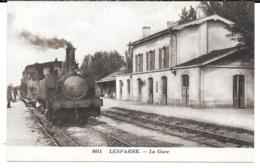 Cpa Lesparre - La Gare . - Lesparre Medoc