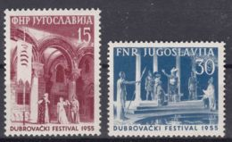 Yugoslavia Republic 1955 Mi#761-762 Mint Hinged - 1945-1992 Repubblica Socialista Federale Di Jugoslavia