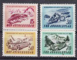 Yugoslavia Republic 1953 Auto-Moto Sport Mi#724-727 Mint Hinged - 1945-1992 Repubblica Socialista Federale Di Jugoslavia