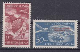 Yugoslavia Republic, Airmail 1951 Mi#666-667 Mint Hinged - 1945-1992 Repubblica Socialista Federale Di Jugoslavia
