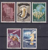 Yugoslavia Republic 1950 Chess Mi#616-620 Mint Hinged - 1945-1992 Socialistische Federale Republiek Joegoslavië