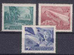 Yugoslavia Republic 1950 Mi#598-600 Mint Hinged - Ongebruikt
