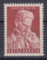 Yugoslavia Republic 1953 Nikola Tesla Mi#712 Mint Never Hinged - 1945-1992 Repubblica Socialista Federale Di Jugoslavia