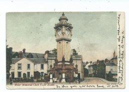 Devon Exeter Miles Memorial Clock Tower Jws Posted 1904 - Exeter