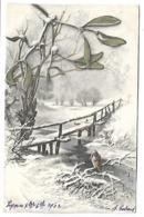 Oiseau Et Paysage Neigeux - Illustrateur MM VIENNE - Vienne
