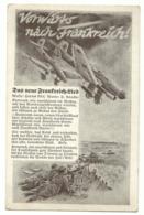 """Liedkarte """"Vorwärts Nach Frankreich"""" Mit Flugzeugen Um 1940 - Guerra 1939-45"""