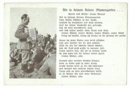 """Liedkarte """"Als In Deinem Kleinen Blumengarten"""" Um 1940 - Guerra 1939-45"""