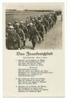 """Liedkarte """"Das Frankreichlied"""" Marschierende Soldaten Stempel """"Malmedy Ist Frei 18.5.40"""" - War 1939-45"""