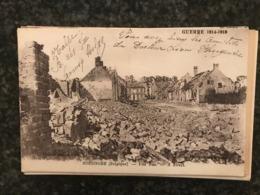 Ypres Ieper ( Boezinge ) BOESINGHE RUINES UNE RUE  Worldwar Guerre 1914-18 Front 1916 - Ieper
