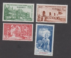 Colonies Françaises -Timbres Neufs ** Dahomey - PA N°6 à 9 - Ungebraucht