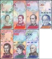 Venezuela - Set 7 Banknotes 2 5 10 20 50 100 200 Bolivares 2018 UNC - Venezuela