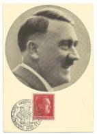 Männer Der Zeit Nr.91 Adolf Hitler Sonderstempel Breslau 1938 - War 1939-45