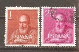 España/Spain-(usado) - Edifil  1292-93  - Yvert  973-74 (o) - 1951-60 Usados