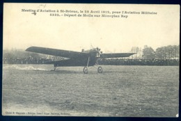 Cpa Du 22 Meeting Aviation St Brieuc Le 28 Avril 1912 Pour Aviation Militaire - Départ De Molla Sur Monoplan Rep LZ36 - Saint-Brieuc