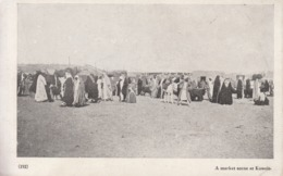 1920's Postcard Kuwait Koweit  Market Scene Printed By Times Press Bombay - Kuwait