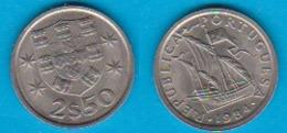 Portugal 2,5  Escudos K-N Jahrgang 1984 Karavelle Schön Nr.48 KM 590 - Portugal