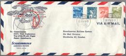 1954 Scandinavian Airlines 1st Exploration Yop-of-the Worls Flight Oslo-Fairbanks-Shemya Tokyo (248) - 1926-89 Emperador Hirohito (Era Showa)