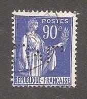 Perforé/perfin/lochung France No 368 M Sté Des Mines De Lens (7) - Gezähnt (Perforiert/Gezähnt)