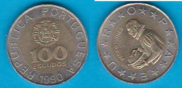 Portugal 100  Escudos K-N/Al-N-Bro Jahrgang 1990  Schön Nr.96 KM 645 - Portugal
