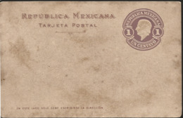 J) 1910 MEXICO, HIDALGO, POSTAL STATIONARY, POSTCARD - Mexico