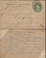 J) 1902 MEXICO, EAGLE, POSTCARD, POSTAL STATIONARY, CIRCULATED COVER, FROM MEXICO - Mexico