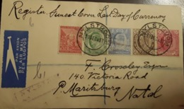 O) 1897 CIRCA - CAPE OF GOOD HOPE, LIBERTY, KING EDWAR VII, REGISTERED - AIRMAIL PER LUGPOST - South Africa (...-1961)