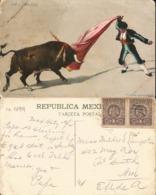 J) 1899 MEXICO, A CAPOTAZO, BULLFIGHTER, EAGLE, PAIR, MEXICAN REPUBLIC, CIRCULATED COVER, FROM MEXICO - Mexico