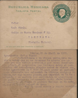 J) 1873 MEXICO, MEXICAN REPUBLIC, 2 CENTS HIDALGO, CIRCULATED COVER, FROM MEXICO - Mexico