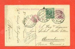 INTERI POSTALI - C 51/22   DA VERONA PER ROCCABIANCA - RISPOSTA - 1900-44 Vittorio Emanuele III
