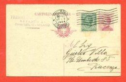 INTERI POSTALI - C 51/21  - PUBBLICITARIA  TORURING CLUB MILANO - 1900-44 Vittorio Emanuele III