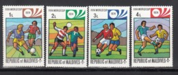 MALDIVES, 1974 Yvert Nº 496 / 99  MNH,  Copa Mundial De Fútbol - Copa Mundial