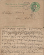J) 1909 MEXICO, MEXICAN REPUBLIC, EAGLE, 2 CENTS, CIRCULATED COVER, FROM PUEBLA TO OAXACA - Mexico