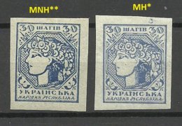 UKRAINE UKRAINA 1918 Michel 3 A + B MNH/MH - Oekraïne
