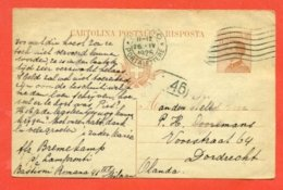 INTERI POSTALI - C 54/22 DA MILANO PER L'OLANDA - 1900-44 Vittorio Emanuele III