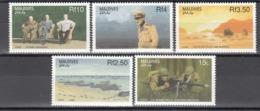 MALDIVES, 1988   Yvert Nº 1271 / 1275  MNH,   50 Aniversario De La Segunda Guerra Mundial - Militares