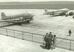 AIRPLANE AEROPLANE AIRCRAFT LISUNOV LI-2 HUNGARIAN AIRLINES MALEV * BUDAPEST FERIHEGY AIRPORT * Reg Volt 0055 * Hungary - 1946-....: Era Moderna