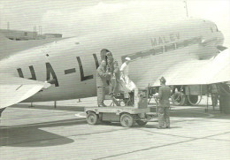 AIRPLANE AEROPLANE AIRCRAFT LISUNOV LI-2 HUNGARIAN AIRLINES MALEV * BUDAPEST FERIHEGY AIRPORT * Reg Volt 0056 * Hungary - 1946-....: Era Moderna