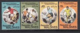MALDIVES, 1992  Yvert Nº 1066 / 1069 MNH, Copa Mundial De La FIFA 1986 - México - Copa Mundial