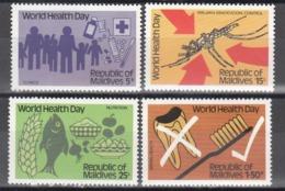 MALDIVES, 1980  Yvert Nº 831 / 834   MNH, Día Mundial De La Salud - Maldivas (1965-...)