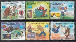 MALDIVES, 1986  Yvert Nº 1062 / 1065  MNH, Dibujos Animados - Disney