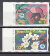 MALDIVES, 1984  Yvert Nº 958 / 959 MNH, Flores - Vegetales