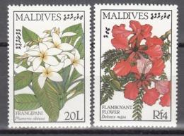 MALDIVES, 1987  Yvert Nº 958 / 959 MNH, Flores - Vegetales