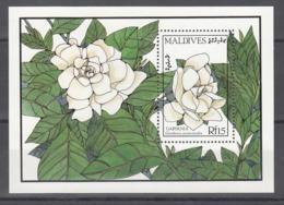 MALDIVES, 1987   Yvert Nº HB 129,  MNH, Flores, Gardenia Jasminoides - Vegetales
