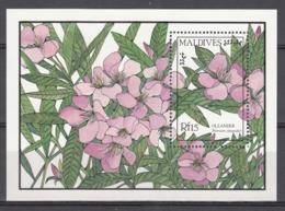 MALDIVES, 1987   Yvert Nº HB 131,  MNH, Flores, Nerium Oleander - Vegetales