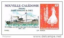 Nouvelle Caledonie France Timbre Personnalise Timbre A Moi Autocollant Prive Bunel Bateau Navire Saint Vincent Paul  UNC - Sonstige