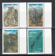 MALDIVES, 1993   Yvert Nº 1654 / 1657,  MNH, Mamíferos - Sellos