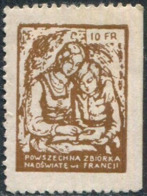 Poland Polish Diaspora Poles Emigrants In FRANCE Education Fund 10 Fr. Charity Donation Revenue Fiscal Tax Polen Pologne - Revenue Stamps
